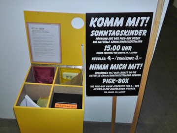 Pick-Box for exhibition Appropriation of the Present, ©GfZK 2012