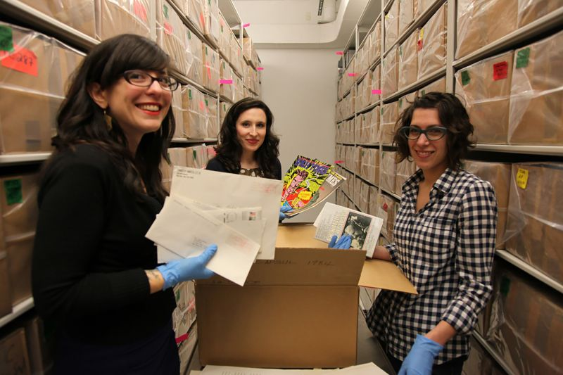 Opening and cataloguing Warhol's Time Capsules. Courtesy The Andy Warhol Museum, Pittsburgh (warhol.org)