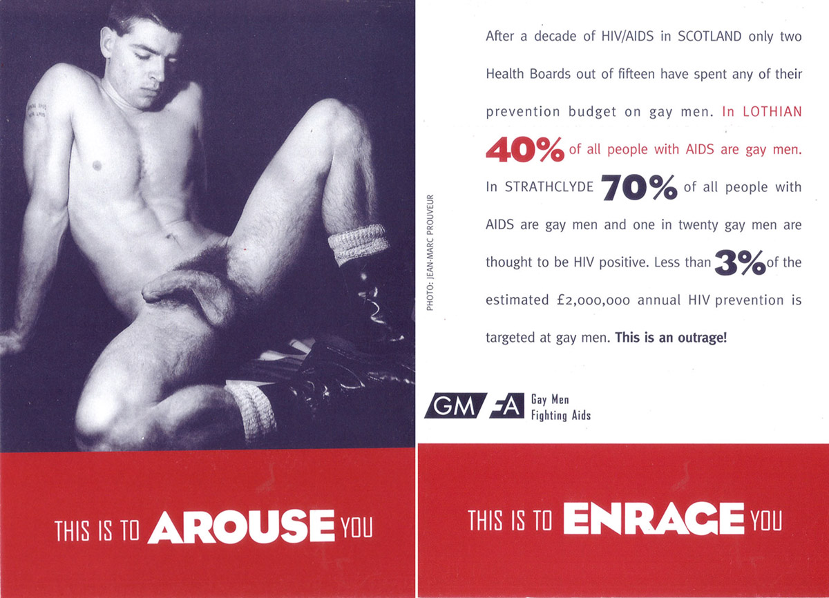 Fig. 3. GMFA, This is to Arouse You, 1994: postcard, front and back shown. Photograph by Jean-Marc Prouveur © GMFA.