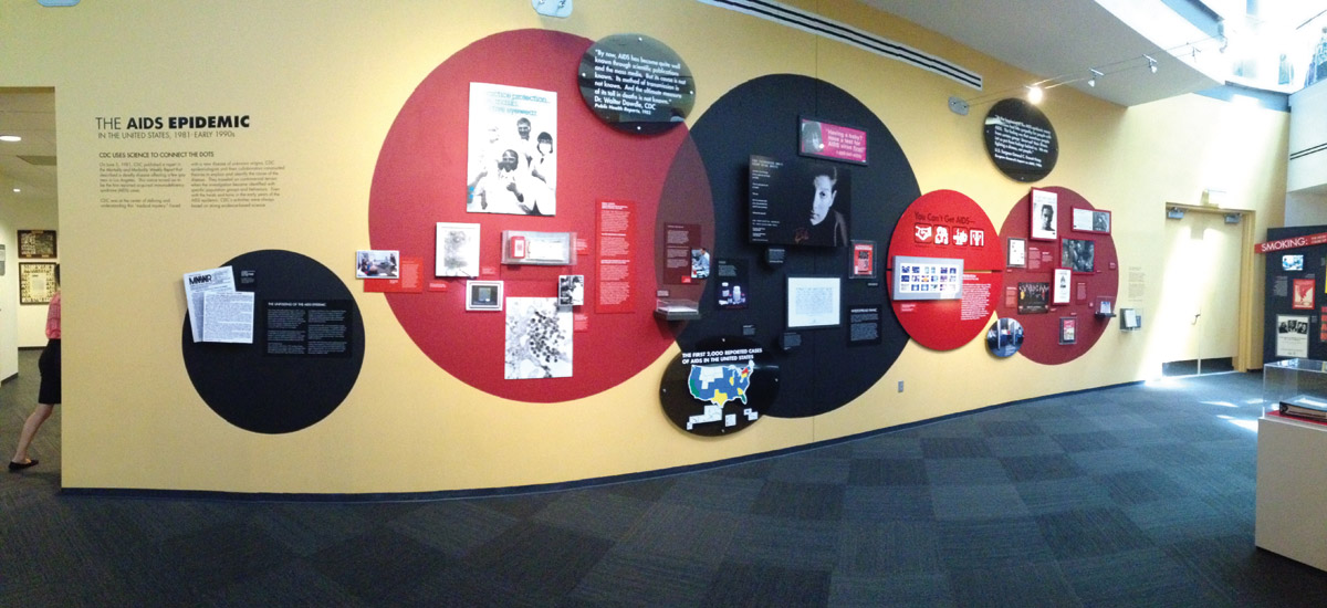 AIDS Epidemic Exhibit, David J. Spencer Museum, 2014. Photo by author.